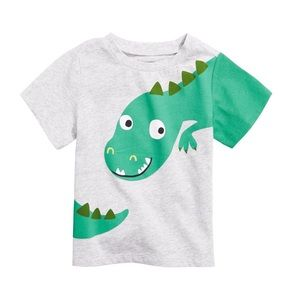 NWT First Impressions Gray Dinosaur Shirt Top 24mo